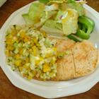 Grilled Chicken Breast with Cucumber and Pepper Relish